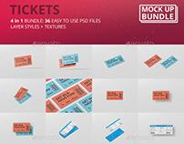 Ticket Mockup Bundle