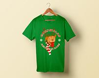 T-shirt design for a fun Christmas themed 5k run