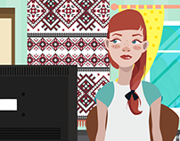 Animated Character Cartoon for EEF