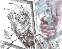 Watercolor and pen duet