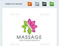 Massage - Chiropractic Logo Template