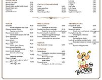 E1 pureto menu card