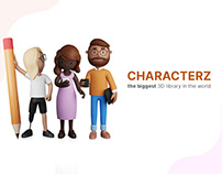 CHARACTERZ - Biggest 3D illustration library