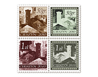 Cieszyn City Post stamp and diptych