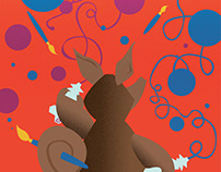 The Messy Aardvark Children's Illustration