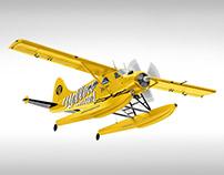 Flying Seaplane Mockup
