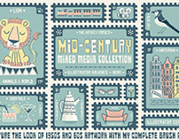 Mid-century Mixed-Media Collection- Illustrator Brushes