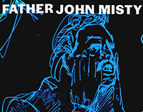 Father John Misty Illustrations for LISTEN RESPONSIBLY