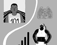 Illustrations for B Magazine