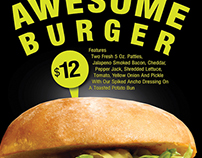 "Poster Design for In-Store Promotion ""Awesome Burger"""