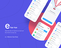 E-Sign iOS App UI/UX Design
