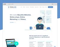 Cross Link website concept