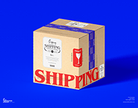 Free Delivery Box Mockup