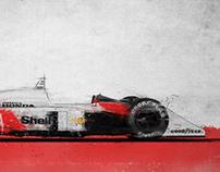 F1 Art (Ferrari 156F1 - McLaren MP4/4 - Williams FW14B)