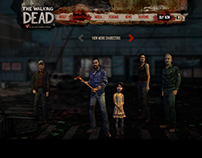 Walking Dead Micro-Site Concept
