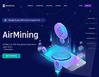 Blockchain Cryptocurrency Website/UI Template Banner