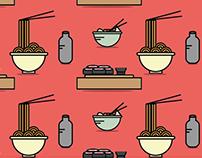 Japanese food pattern