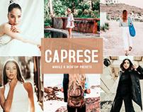 Free Caprese Mobile & Desktop Lightroom Presets
