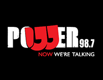 Powerfm logo and Branding