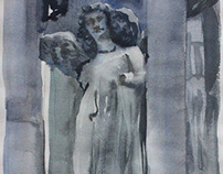 """Angel"" paper watercolor 15x20"