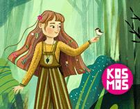 Cover and Illustrations for Kosmos dla Dziewczynek