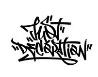 Just Decoration - Graffiti tag, guerrilla art / 2017