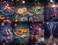 Rustic food photography series