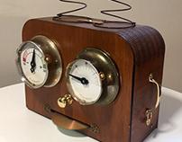 Steampunk digital to analogue data monitor