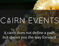 Cairn Events: Branding & Website