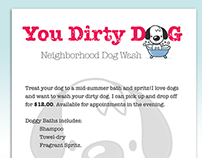 You Dirty Dog - Flyer