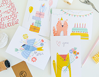 Cute Illustrative Greeting Cards