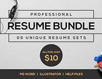 Professional resume bundle V.1