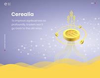 Cerelia | landing page redesign | Blockchain