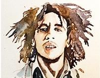 Bob watercolor portrait