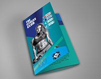 Brochure for fitness club
