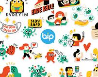 Bip Stickers