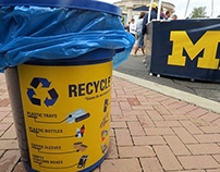 Michigan Stadium Recycling Signage: Final Design