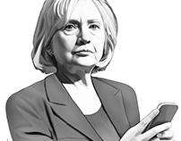 Editorial Illustration Hillary Clinton