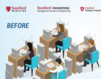 Trade show poster design for Stanford Medicine