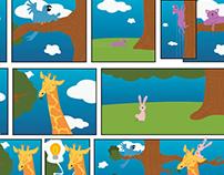 Quadrinhos infantil para Weleda