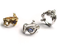 Temptation - Eve and Serpent Ring