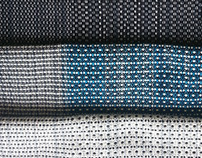Handwoven textiles with small sized patterns