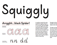Squiggly Typeface