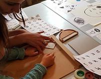 Atelier gravure avec les enfants