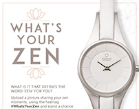"Design for ""What's your Zen"" campaign for Obaku Watches"