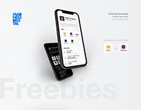 Resume App Design / Adobe XD+Sketch Freebies