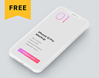 Free iPhone 12 Pro Clay Mockup Set