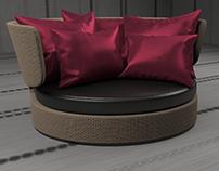 3D Sofa modeling