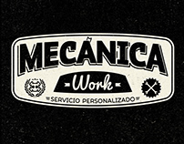 Mecánica Work, logo and images