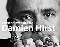 Personal website сoncept for Damien Hirst